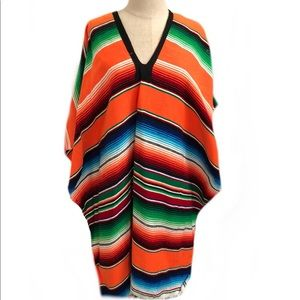 Sweaters - Multi Color Poncho - One Size